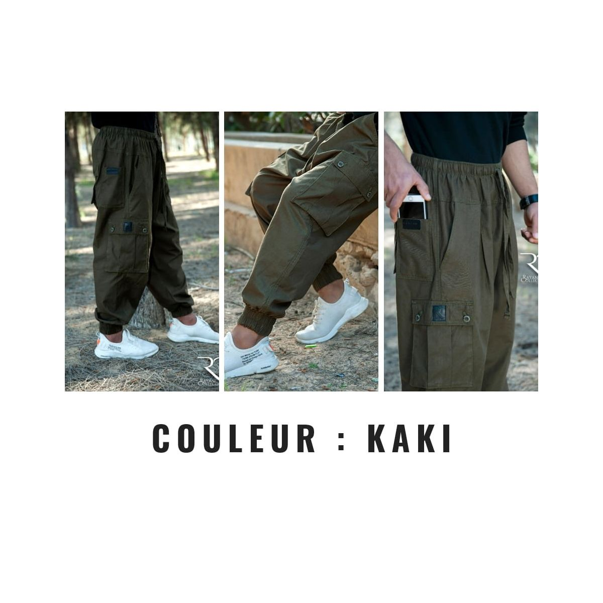 Sarouel Homme KAKI - Rayanne Collection