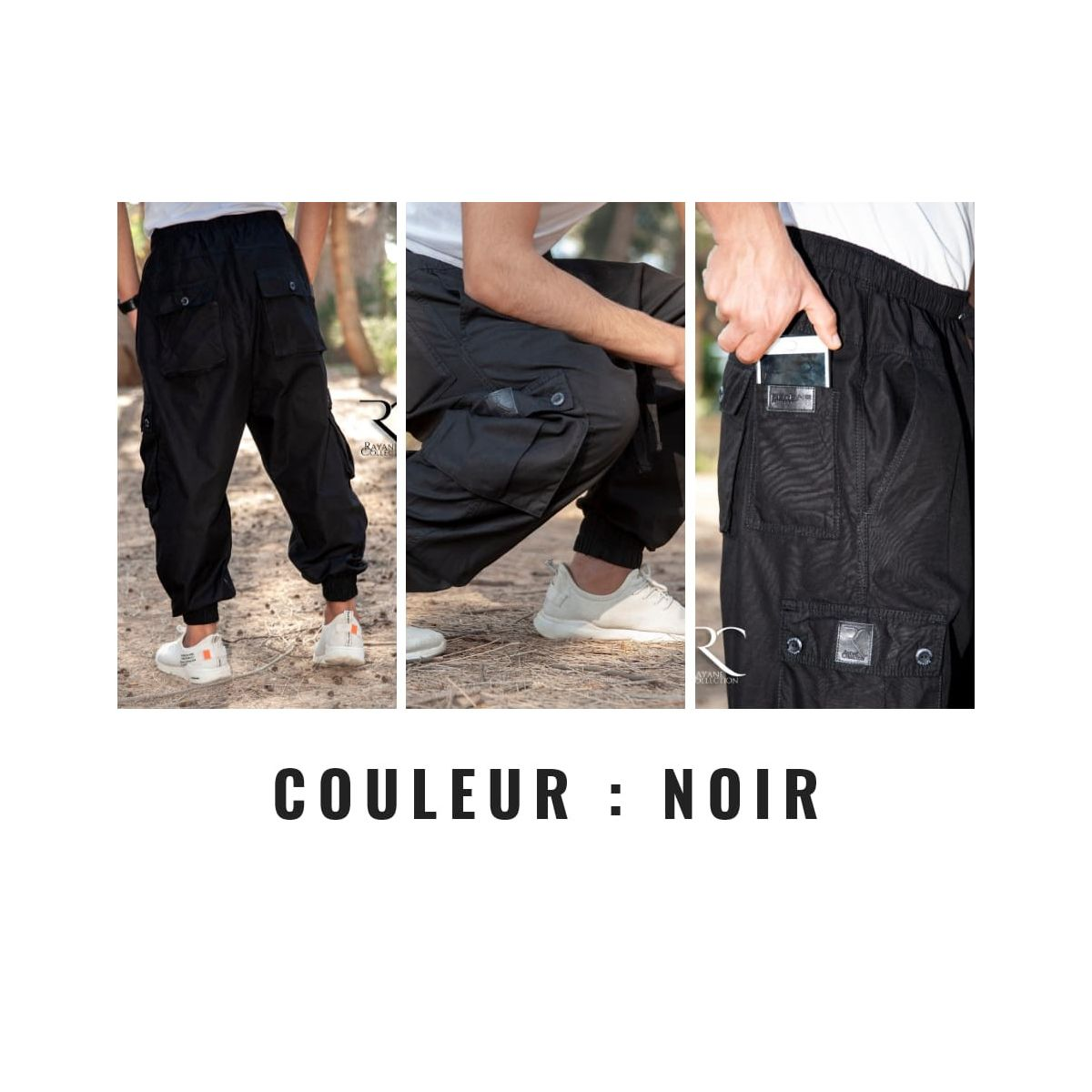 Sarouel Homme NOIR - Rayanne collection