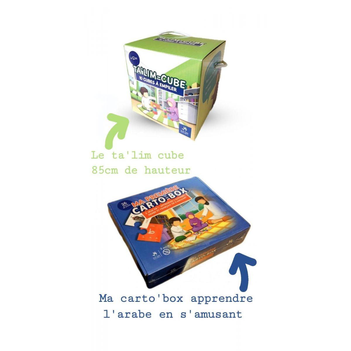 DUO JEUX : ( carto box  et  ta'lib cubes )
