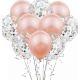 Lot de 10 ballons ( 5 simple + 5 confettis )