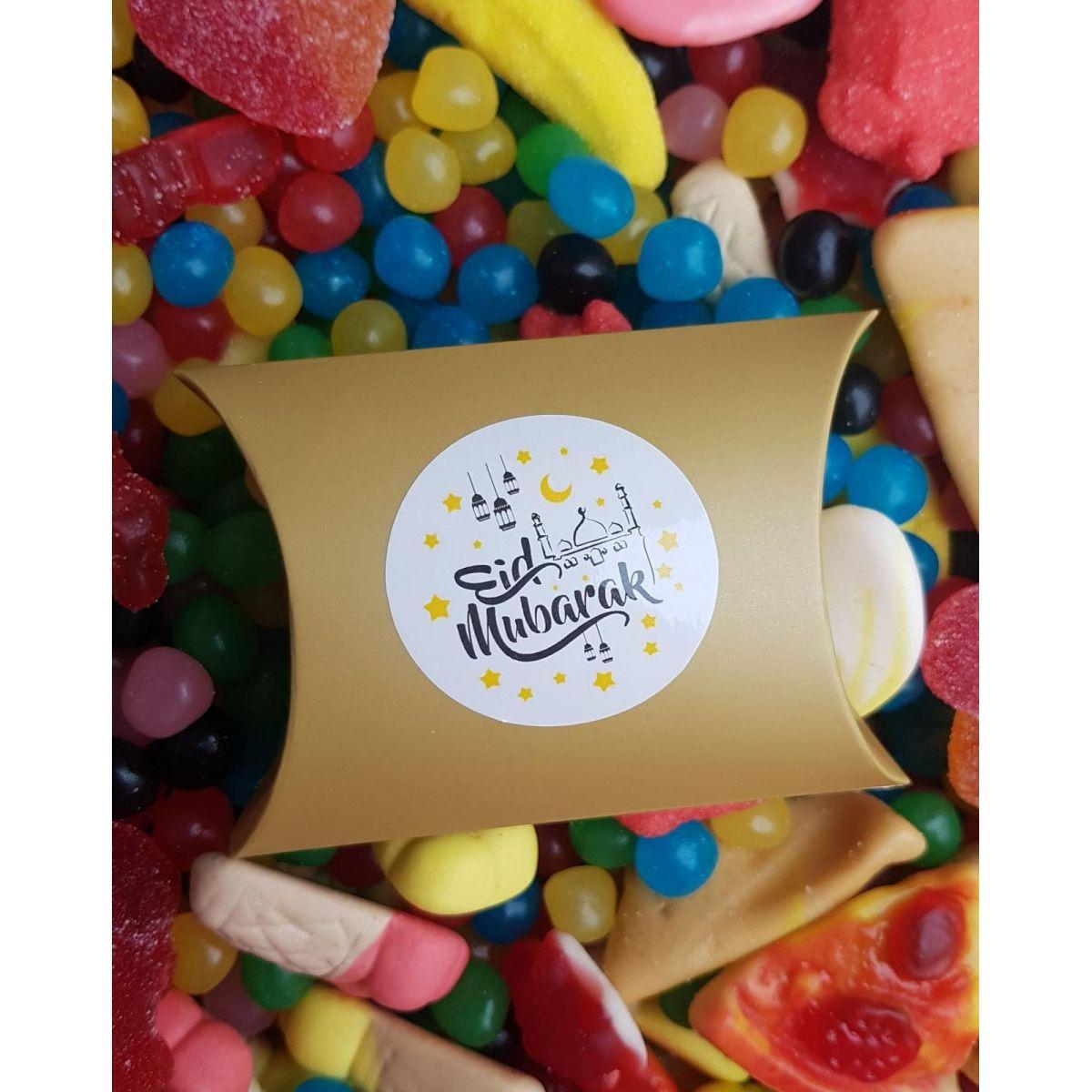 "Boite bonbons couleur or ""Eid Mubarak"""