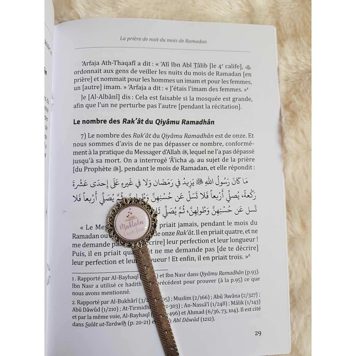 """La Priere de Nuit Pendant le mois du Ramadan suivie de l'épître """"La retraite spirituelle"""" DE Cheikh Al-Albânî"""