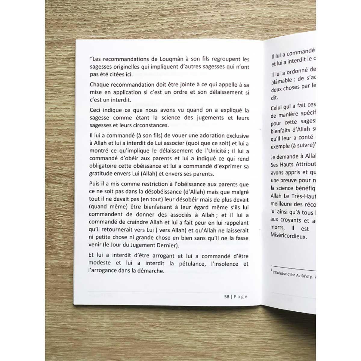 50 bénéfices tirés des recommandations de Louqman Le Sage à son fils -Cheikh Abder-Razzâq Al Abbâd Al Badr